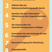 10 Eckpunkte, um die DSGVO zu erfüllen